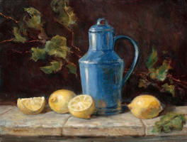 Blue Jug And Lemons
